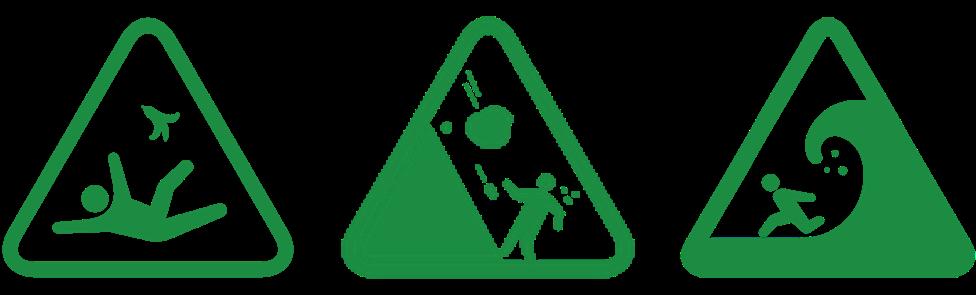 緊急出口小綠人-各種警告標誌